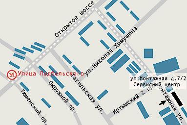 Монтажная улица схема проезда